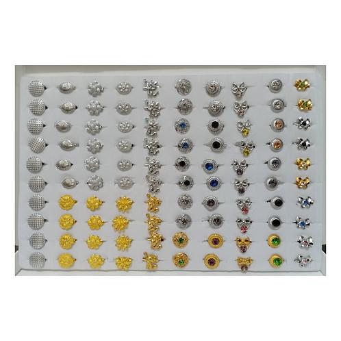 Baby Brooch Mix Diamond & Plain 10 Patterns