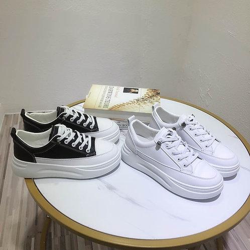 Platform White Sneakers (T23)