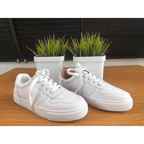 Platform White Sneakers (Q52)