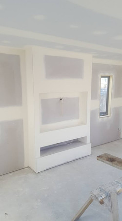 Tv unit. Slimline external corners.