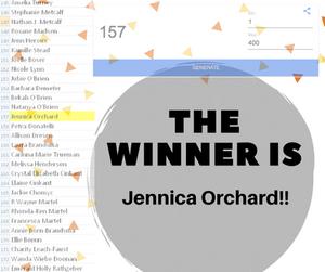 Winner is Jennica Orchard