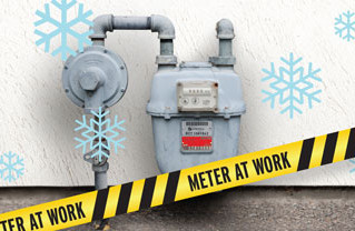 Give your gas meter space to work :)
