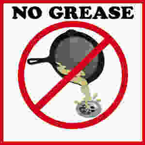 Greasy substances can solidify