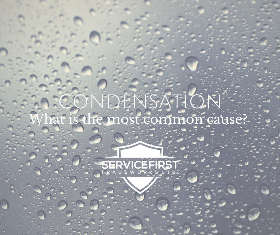 What is the most common cause of condensation?