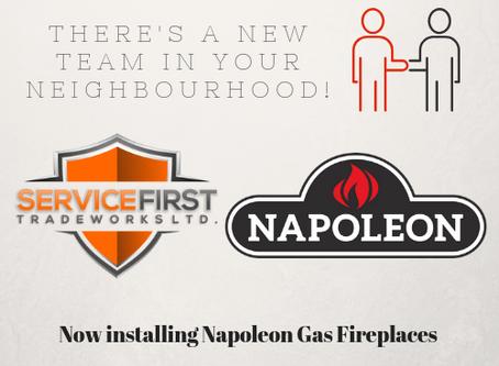 NEW Partnership with Napoleon Fireplaces