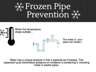 Top 3 tips to prevent frozen pipes