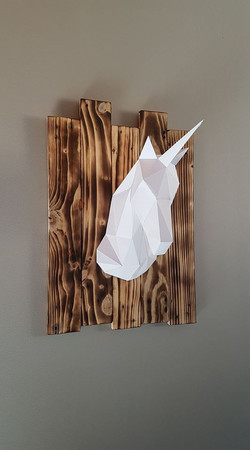 Cadre Origami Licorne
