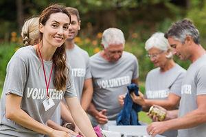 Volunteering Group working together