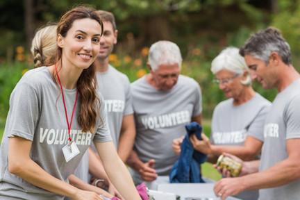 Volunteering-Gruppe