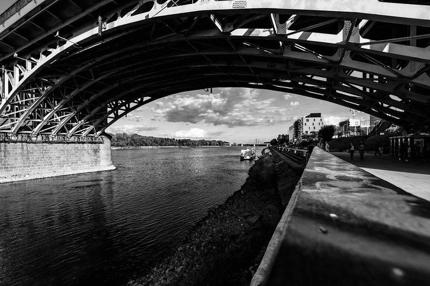 Clouds under the bridge
