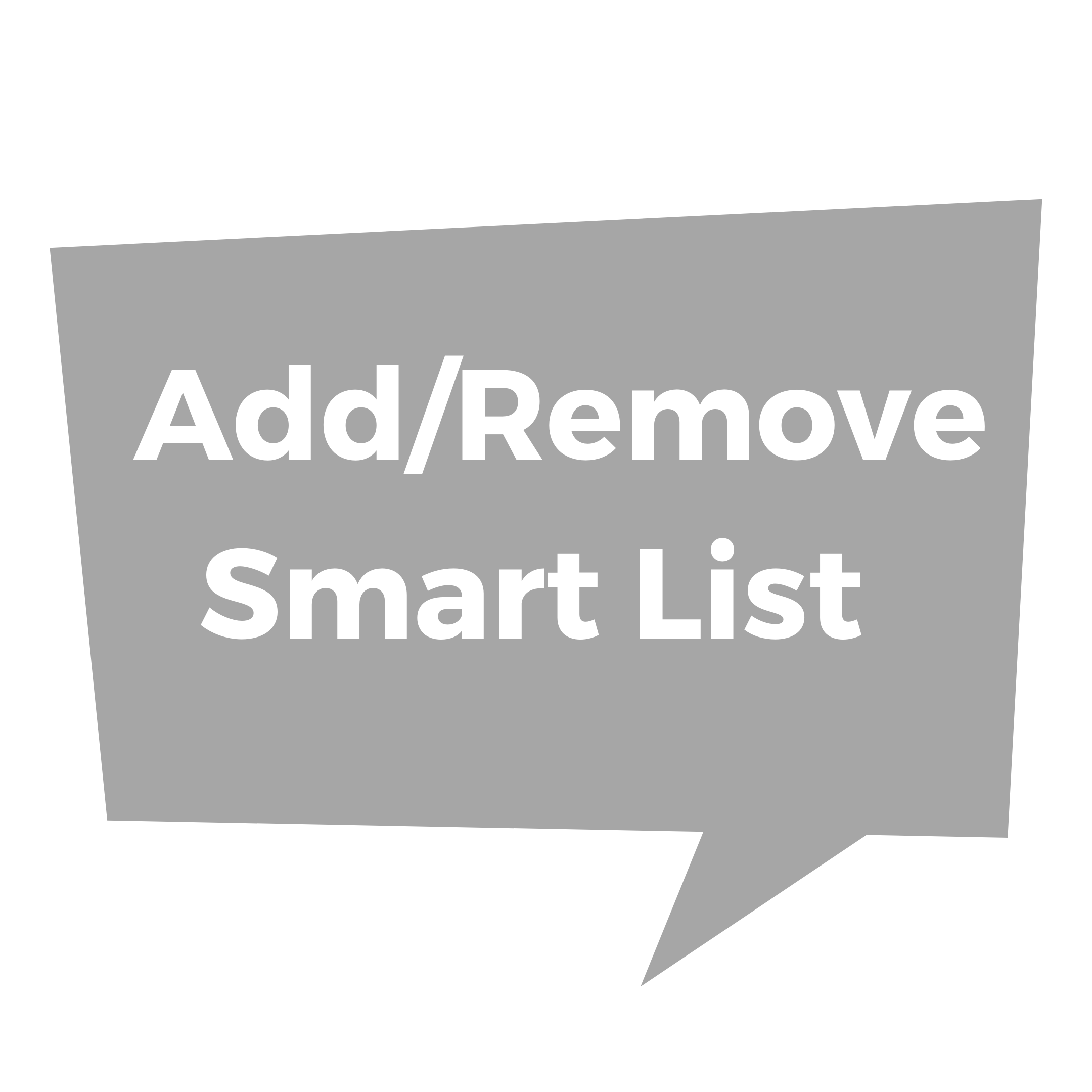 Add/Remove Smart List