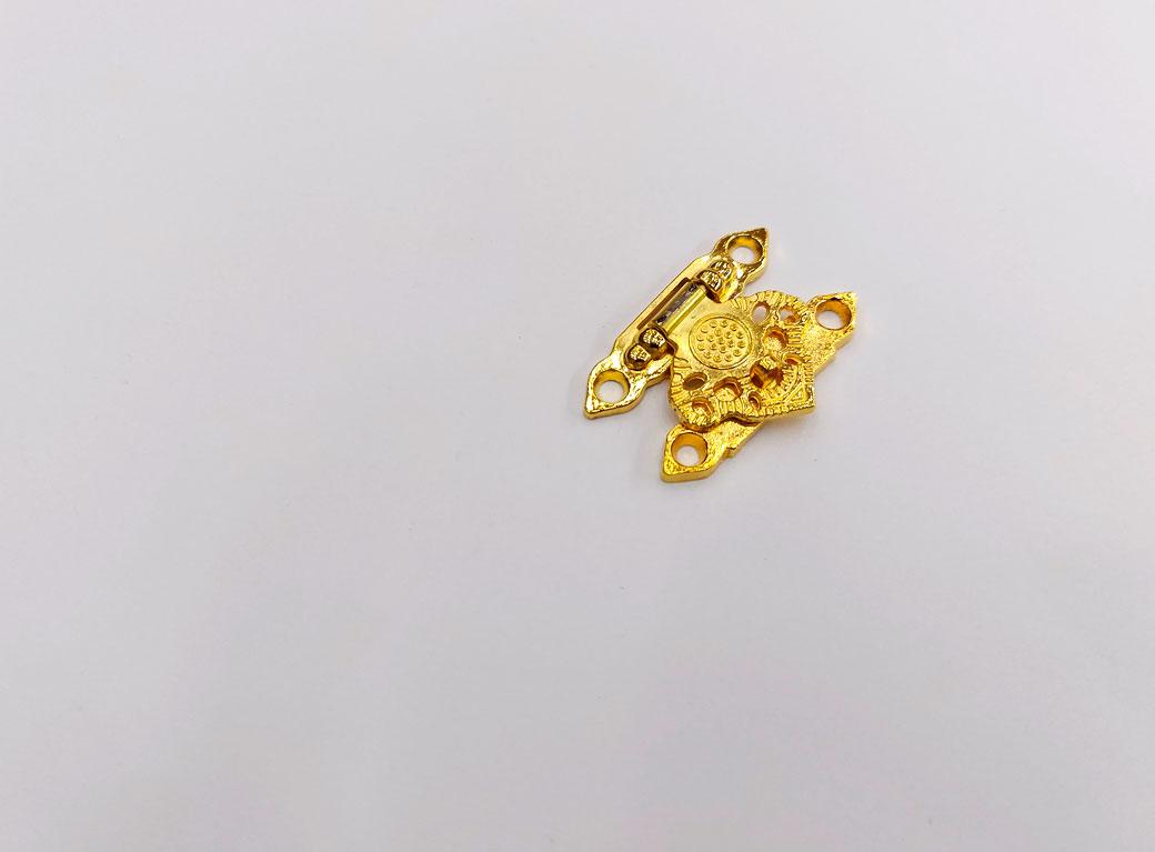 """Замок для шкатулки металл, """"Узорный"""", золото 2,3*3,3 см"""
