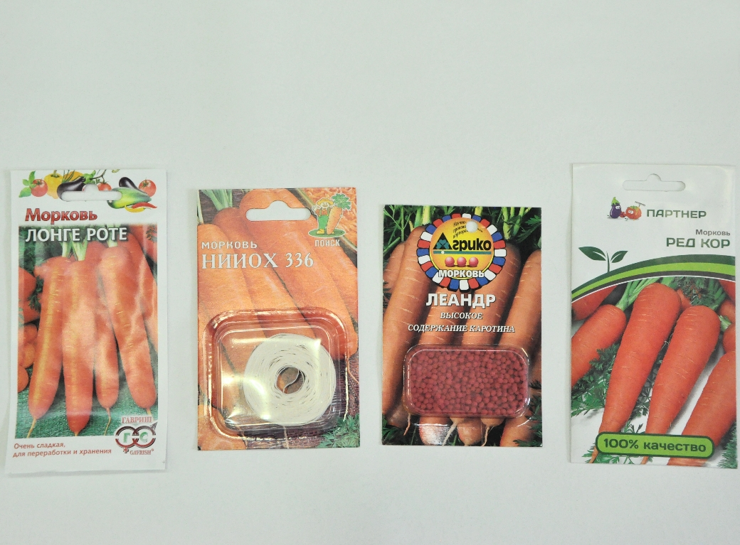 Семена моркови на ленте, россыпь