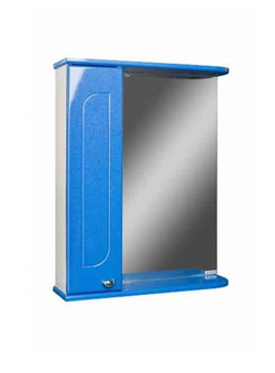Шкаф-зеркало, радуга синий мет.
