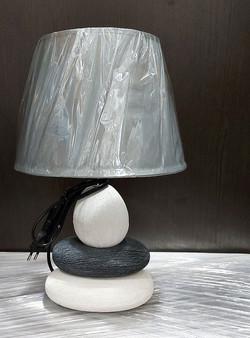 """Лампа настольная """"Сад камней. Чистота"""", керамика"""