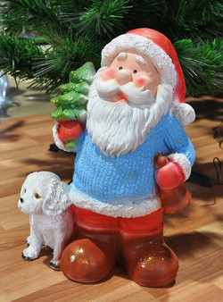 "Статуэтка ""Дед Мороз с ёлкой"", 37 см."""