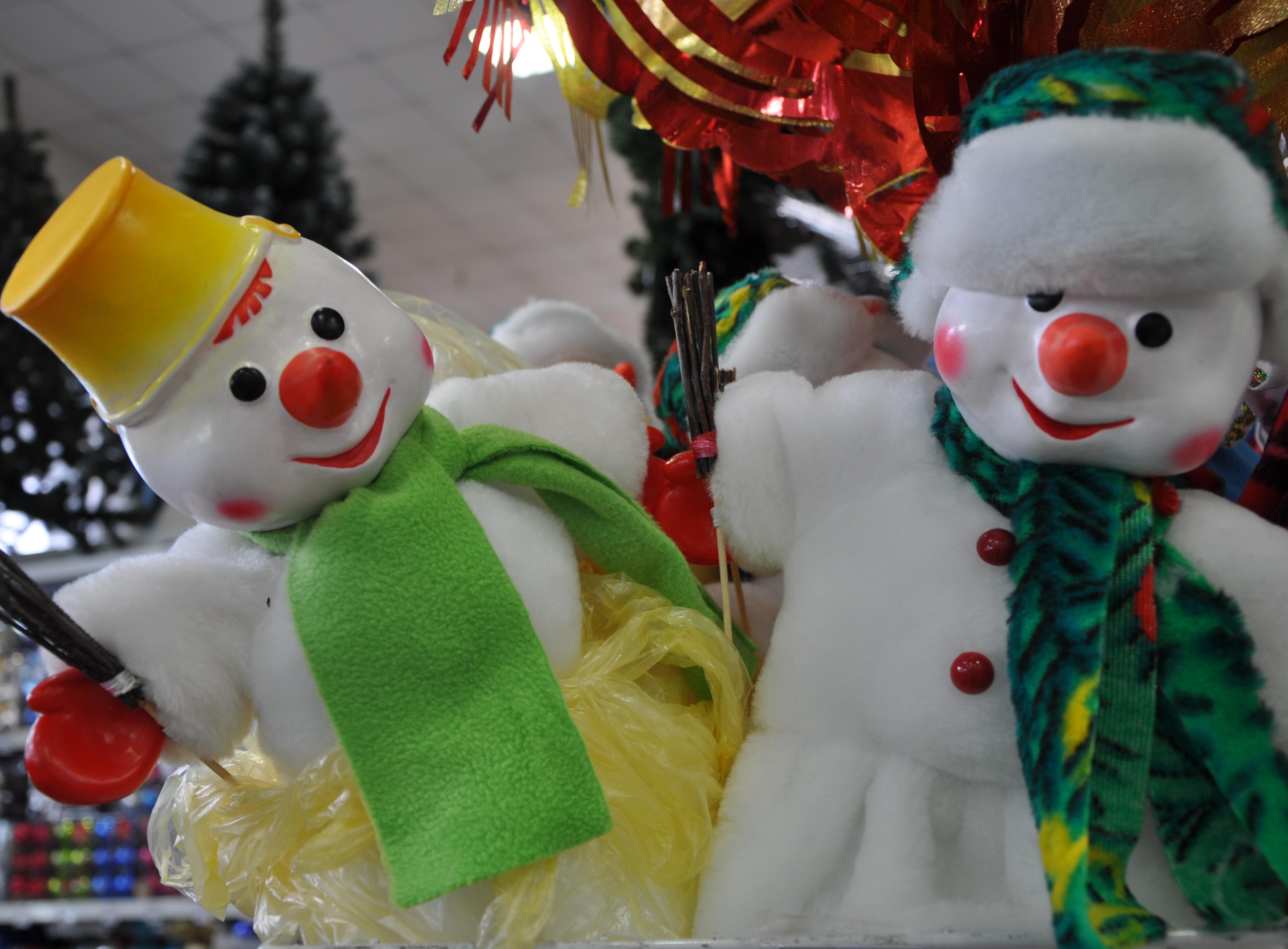 Игрушка мягкая Снеговик