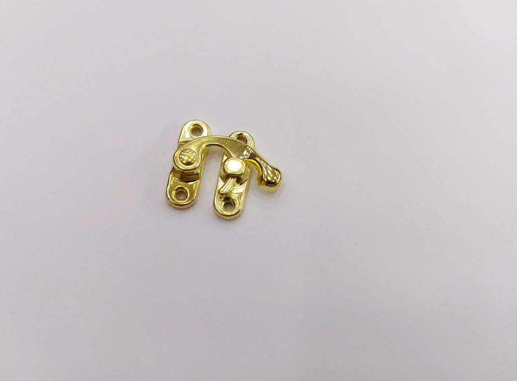 "Замок для шкатулки, металл ""Крючок"", золото, 2,7*2,5 см"