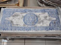 Ковер 60*140 крем-синий (228714)
