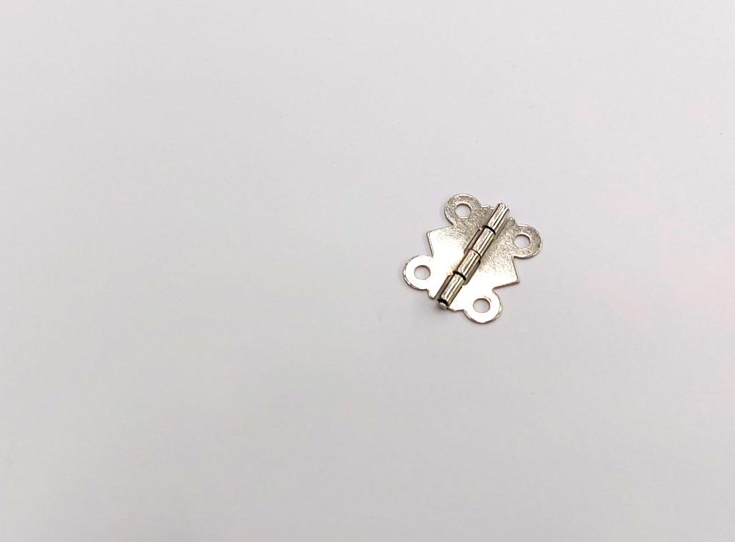 Петля для шкатулки, металл, фигурная, серебро 2*2,1 см