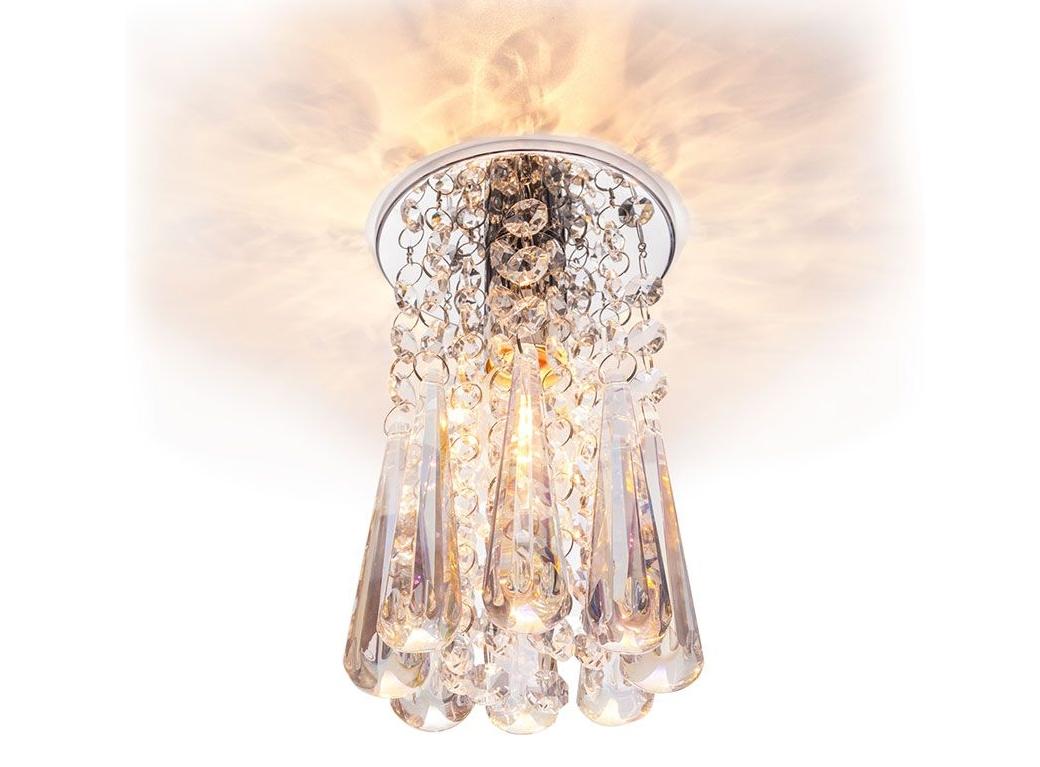 светильник точечный df1047cr+rnb e14