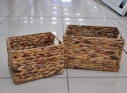 Интерьерная корзина из натуральных материалов