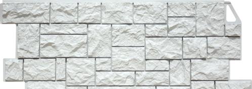 Камень дикий белый мелованный