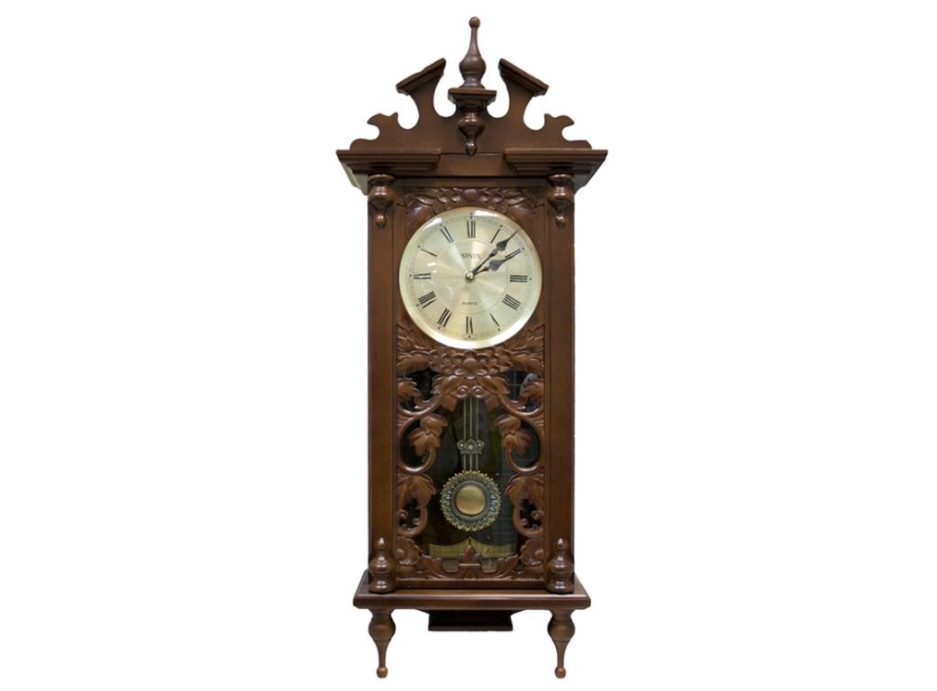 часы деревянные резные