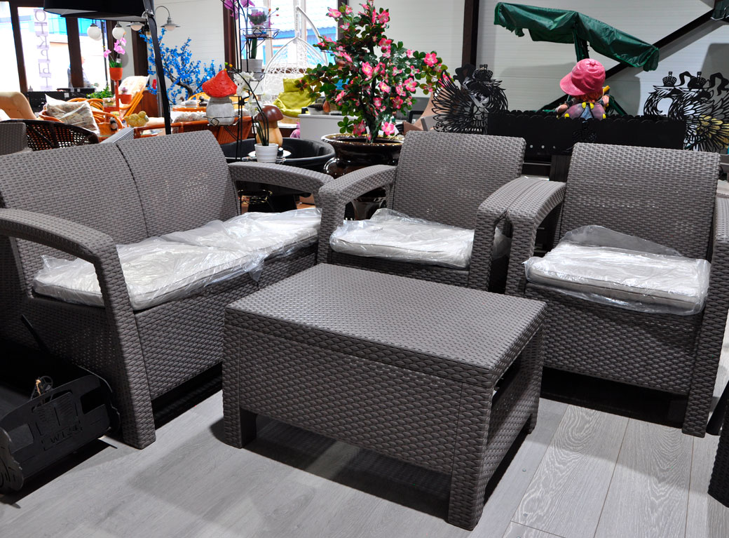 Комплект мебели Corfu Set, капучино