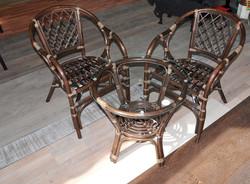 """Комплект кофейный """"Terrase Set"""" стол+2 кресла + подушки"""