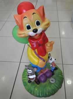 """Декоративная фигура """"Кот с мышами"""""""