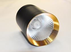 Светильник накладной, черно-золотой