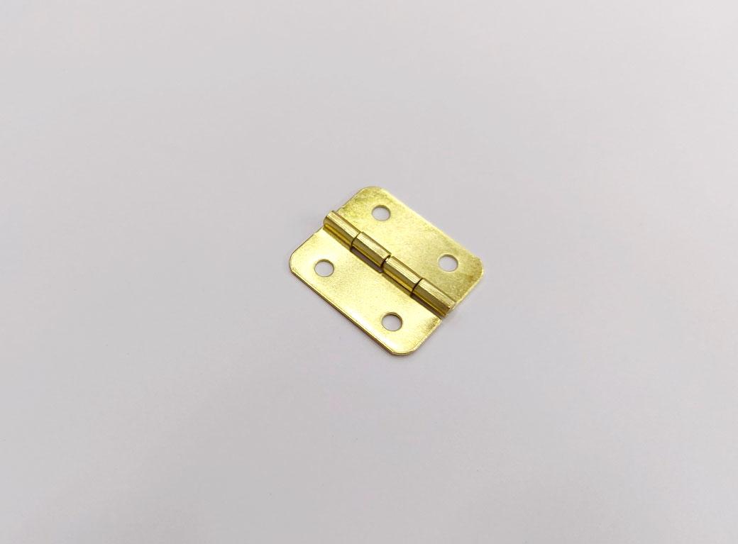Петля для шкатулки, металл с закруглёнными углами, золото 2,5*2,2 см