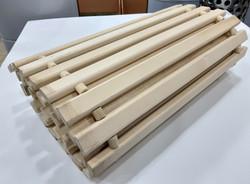 Коврик деревянный, липовая рейка