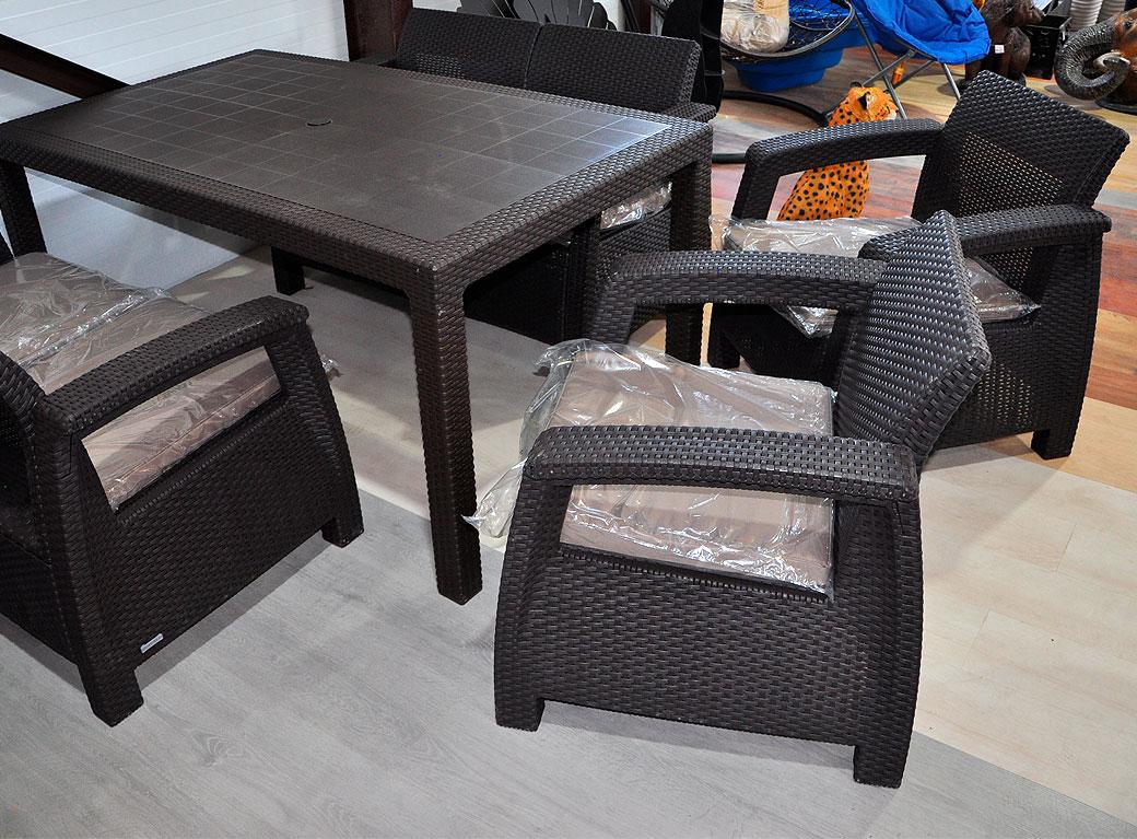 "Комплект мебели ""Corfu Fiesta"" пластик, с подушками"