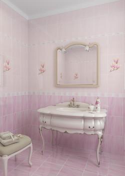 Агата, розовый