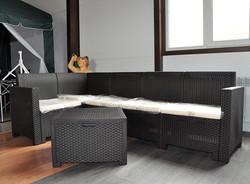 Комплект мебели NEBRASKA CORNER Set диван+ стол, венге.