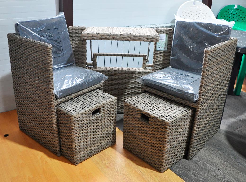 """Комплект мебели для балкона """"Адлисвиль"""" 110*80*59 см"""