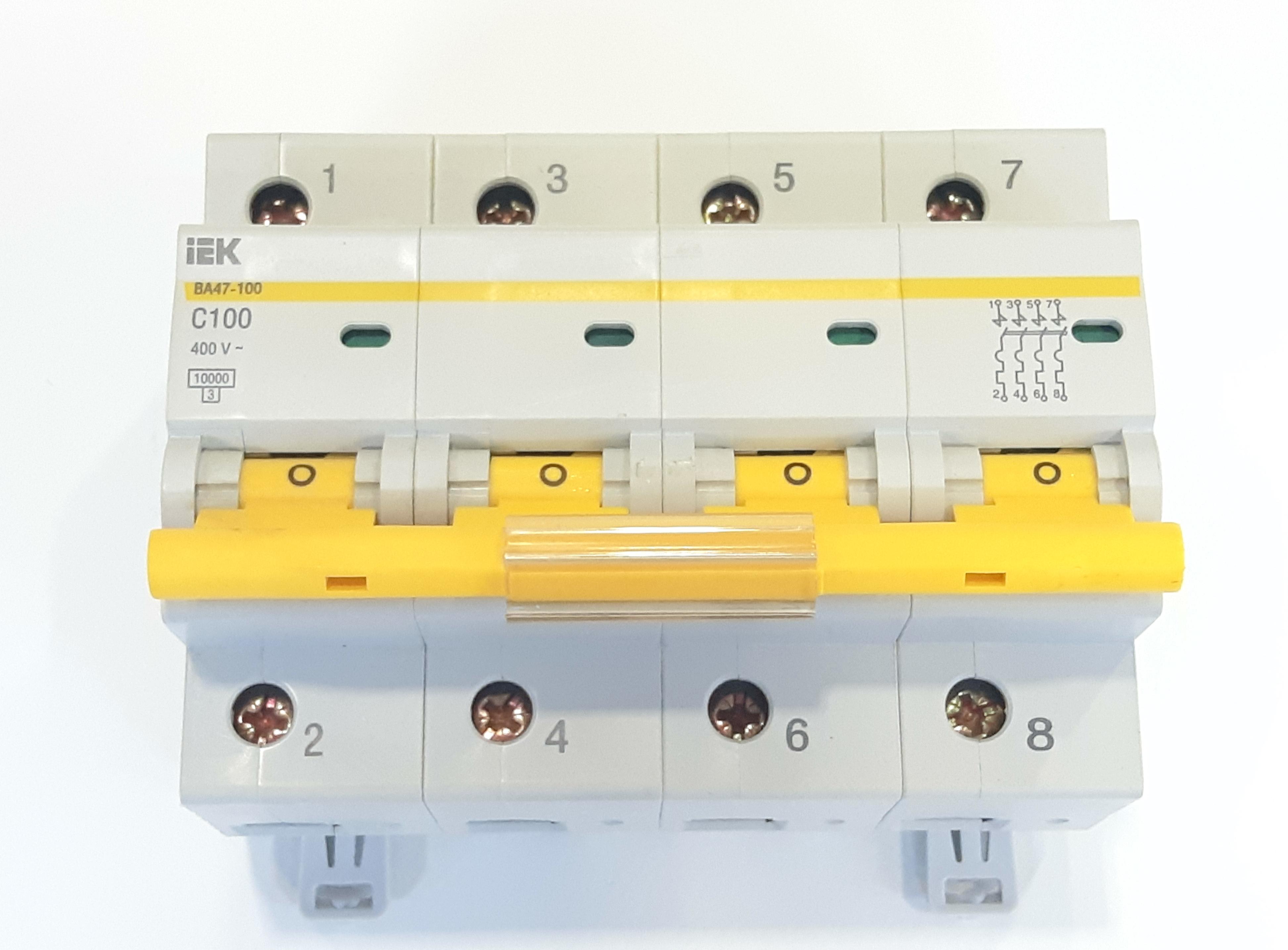 Выключатель автомат. IEK 47-100 4п.