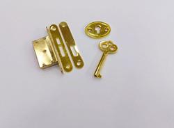 Замок для шкатулки с ключиком, 5 предметов, 1*5,5 см