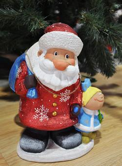 "Фигура ""Дед Мороз и Снегурочка"" 24 см."