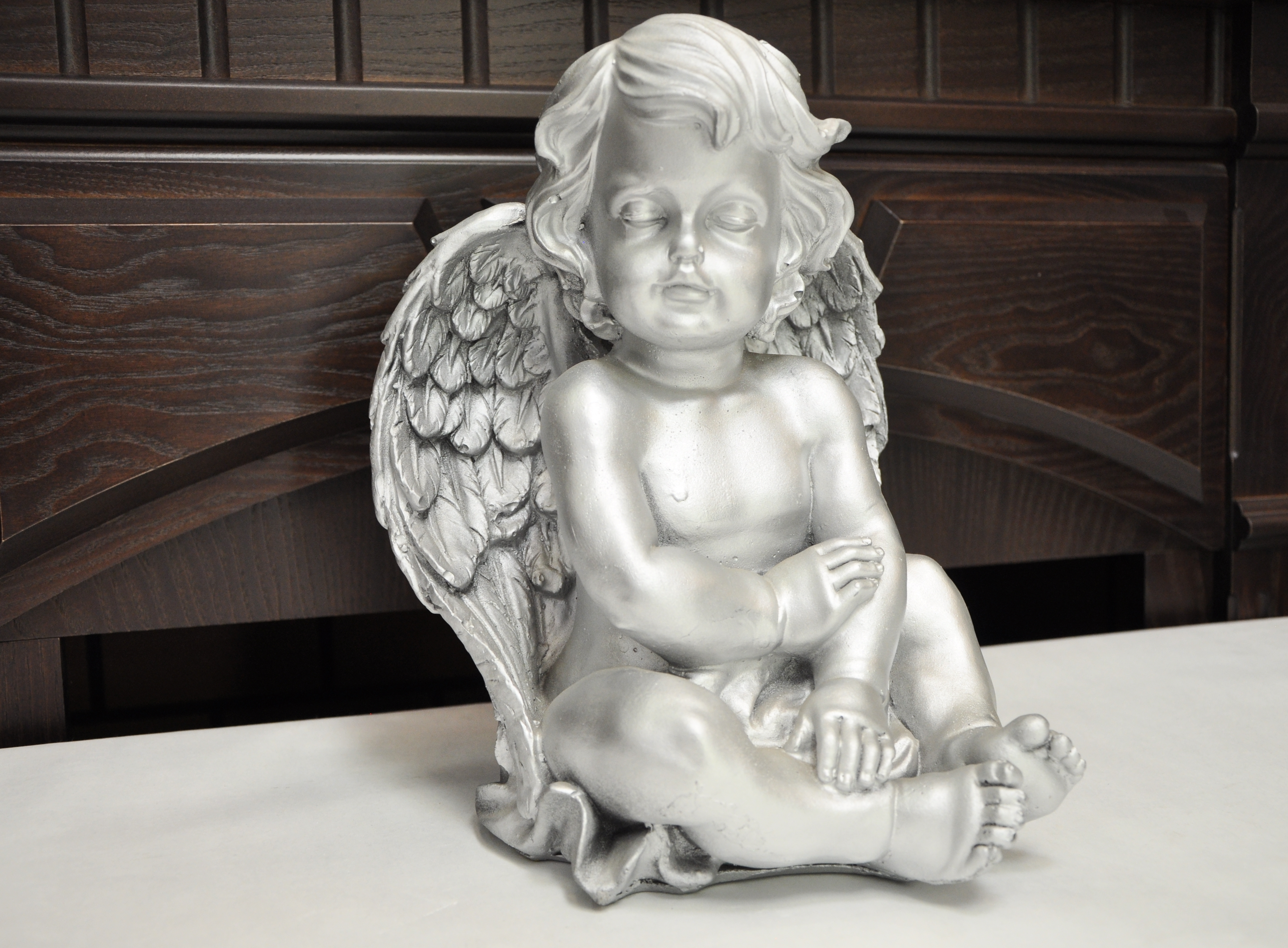 статуэтка ангел серебро