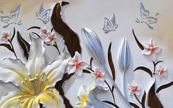Цветы с бабочками