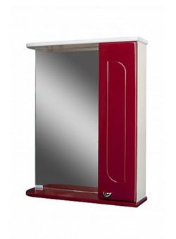 Шкаф-зеркало, радуга бордо