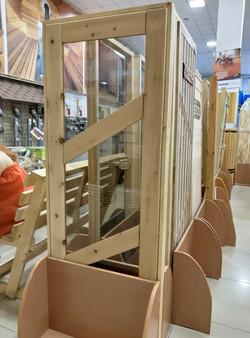 Дверь деревянная остекл. 1800*700