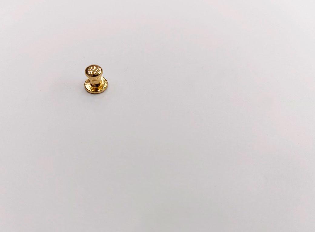 Ручка для шкатулки, металл, двусторонняя, золото, 0,7*0,8 см