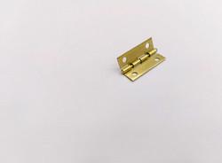 Петля для шкатулки, металл с прямыми углами, золото 1*2,5 см