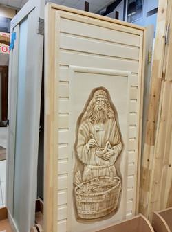 Дверь, липа, 3D панно 1800*700
