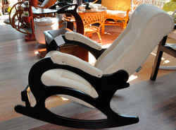 Кресло-качалка с подножкой, Verona Vanilla