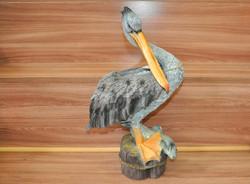 """Декоративная фигура """"Пеликан с рыбой"""""""